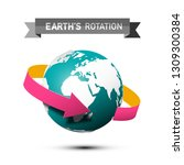 earth's rotation symbol with... | Shutterstock .eps vector #1309300384
