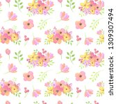 seamless pattern with... | Shutterstock . vector #1309307494