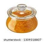 mandarin jam in glass jar... | Shutterstock . vector #1309318807