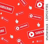 subscribe   button color with... | Shutterstock .eps vector #1309319581