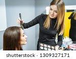 makeup artist creating...   Shutterstock . vector #1309327171