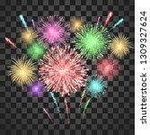 festival fireworks. colorful... | Shutterstock .eps vector #1309327624