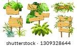 set cartoon game panels in... | Shutterstock . vector #1309328644