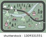 cute road play mat in...   Shutterstock .eps vector #1309331551