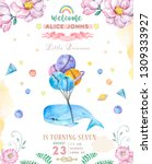 watercolor isolated cute... | Shutterstock . vector #1309333927