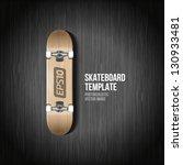 photorealistic skateboard... | Shutterstock .eps vector #130933481