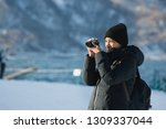 travel woman or photographer... | Shutterstock . vector #1309337044