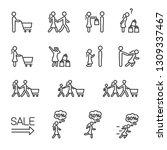 vector set of people go...   Shutterstock .eps vector #1309337467