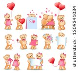 teddy bears collection on... | Shutterstock . vector #1309341034