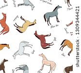horse color chart seamless... | Shutterstock .eps vector #1309344421