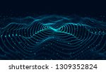 wave of particles. abstract... | Shutterstock . vector #1309352824