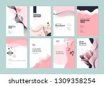 set of brochure  annual report... | Shutterstock .eps vector #1309358254