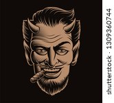vector illustration of a devil... | Shutterstock .eps vector #1309360744