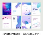 set of brochure  annual report... | Shutterstock .eps vector #1309362544
