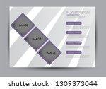 landscape wide flyer template.... | Shutterstock .eps vector #1309373044