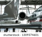 luxorious business jets in... | Shutterstock . vector #1309374601