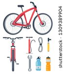 bicycle side and front view ... | Shutterstock . vector #1309389904