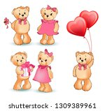 teddy bear collection of... | Shutterstock . vector #1309389961