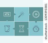 universal icon set and audio... | Shutterstock .eps vector #1309393381