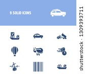 vehicle icon set and rubber...