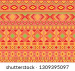 navajo american indian pattern... | Shutterstock .eps vector #1309395097