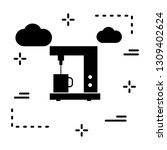 vector coffee maker icon  | Shutterstock .eps vector #1309402624