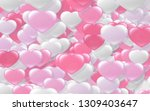 red and pink heart. valentine's ... | Shutterstock . vector #1309403647