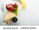 healthy and nutritious lunch... | Shutterstock . vector #1309413244