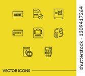 finance icons set with debit ... | Shutterstock .eps vector #1309417264