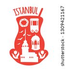 istanbul  turkey. travel...   Shutterstock .eps vector #1309421167