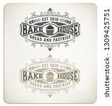 vintage bake logo | Shutterstock .eps vector #1309425751