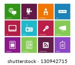 media icons on color background.... | Shutterstock .eps vector #130942715