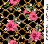 seamless summer pattern with... | Shutterstock .eps vector #1309431631