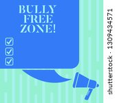 word writing text bully free...   Shutterstock . vector #1309434571