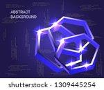 geometric polygons sparkle on...