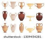 old ancient vessel. clay jug... | Shutterstock .eps vector #1309454281