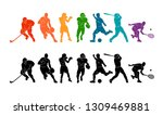 color sport background.... | Shutterstock .eps vector #1309469881