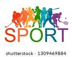 color sport background.... | Shutterstock .eps vector #1309469884