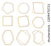 geometric golden frame  set of... | Shutterstock .eps vector #1309470721