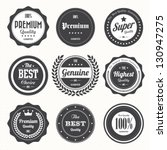 Set of  retro vintage badges and labels.eps10 | Shutterstock vector #130947275