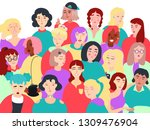 group of different stylish... | Shutterstock .eps vector #1309476904