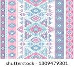 indian rug tribal ornament... | Shutterstock .eps vector #1309479301