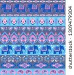 indian rug tribal ornament... | Shutterstock .eps vector #1309479304