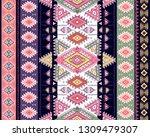 indian rug tribal ornament... | Shutterstock .eps vector #1309479307