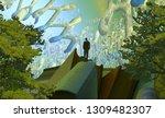 2d illustration. abstract... | Shutterstock . vector #1309482307