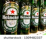 heineken beer bottles in line... | Shutterstock . vector #1309482337