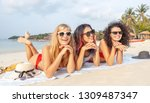 three young beautiful... | Shutterstock . vector #1309487347