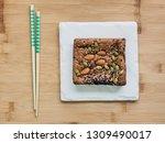 almonds and pumpkin seed plus... | Shutterstock . vector #1309490017