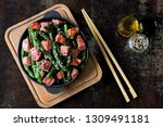 green beans with bacon in a... | Shutterstock . vector #1309491181