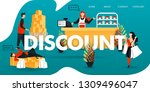 flat cartoon character. vector... | Shutterstock .eps vector #1309496047